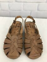 Bare Traps Ready Women's Brown Leather Slingback Shoe Size 9.5