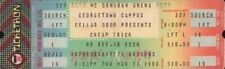 Cheap Trick 1980 All Shook Up Tour Unused Georgetown Concert Ticket / Vg 2 Ex