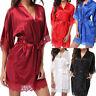 Women Satin Lace Sleepwear Babydoll Lingerie Nightwear Shorts Pjs Pyjamas Set UK