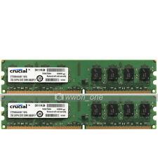 Crucial 4GB KIT 2x2GB PC2-5300 DDR2 667MHz 240Pin UDIMM Desktop Memory For Intel