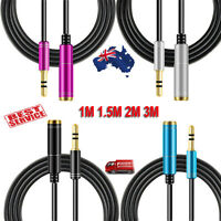 Male To Female 3.5mm AUX Audio iPod MP3 Headphone Stereo Extension Cable Cord