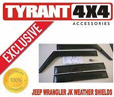 [TYRANT 4X4] Jeep Wrangler JK Tinted Weathershields Window Visors Weather Strips