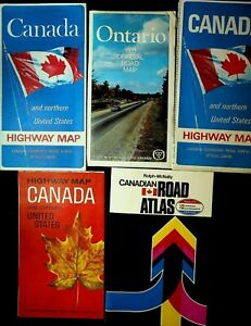 Canada Road Highway Map 1970s Lot of 5 Ontario Government Maps