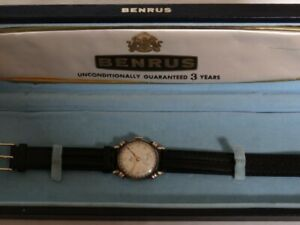 Vintage Benrus Calendar Model CE13 17j  Fancy Knotted Lugs Watch Box Serviced