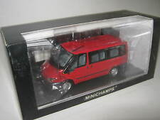 1:43 FORD TRANSIT TOURNEO red 2001 MINICHAMPS 400081210 L.E. OVP new