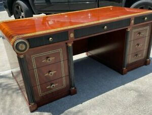 Desk with Infinity Design, 9 Drawers