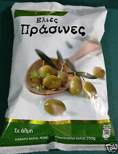 LARGE OVAL SHAPED OLIVES FROM  GREECE, FLESHY AND FIRM 400gr