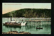 Alaska AK Vintage postcard Salmon Traps Fishing Boat Industry