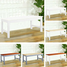 3FT White Solid Pine Waiting Bench Dining Chairs Patio Furniture Relax Hallway