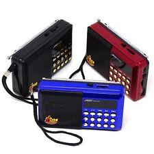 Mini Radio radiolina portatile FM lettore mp3 da USB e microSD ricaricabile JOC