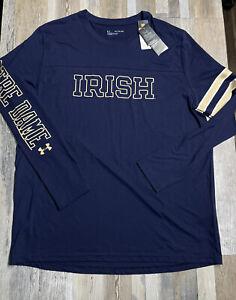 NEW Under Armour Notre Dame Mens Retro ONFIELD Collection T-Shirt Sz 2XL Men's