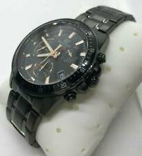 Casio Edifice Mens Black Stainless Steel Watch EFV-540DC-1BVUEF