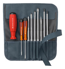PB Swiss Tools PB 8218.GY Screwdriver Set Slotted/Phillips in Roll-Up Case Grey