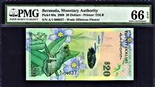 Bermuda $20 Hybrid Polymer 2009 1st Prefix LOW # A/1 000037 P-60a GEM UNC PMG 66