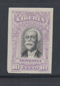 Liberia # F13 MINT Imperf PROOF in Lavender 1903 Registration Issue