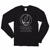 Grateful Dead _Jerry Garcia Dark Star Psychedelic Black 100% Cotton LS T-shirt