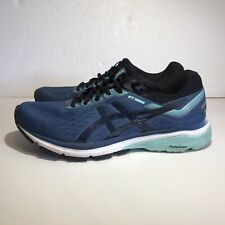 ASICS GT 1000 7 Running Shoes Womens Sz 9 Blue Black Teal Athletic Sneakers