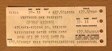 1988 GEORGE MICHAEL FAITH TOUR ATLANTA CONCERT TICKET STUB FATHER FIGURE WHAM A6