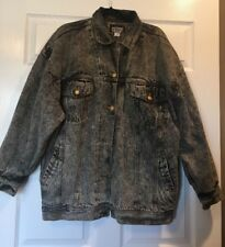 RARE Vintage GET Wash Denim Jean Coat Jacket Medium Woman/Men Unisex