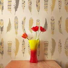 Feathers Allover Stencil- DIY Home Decor  - By Cutting Edge Stencils