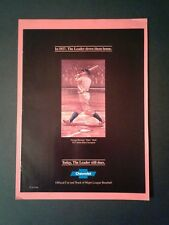 1986 Babe Ruth Yankees Baseball 1927 Home Run Champion Chevrolet Car~Truck AD