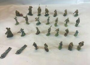 LOT JOUETS MILITAIRES Petits Soldats figurines anciens jeux jouet miniatures  U