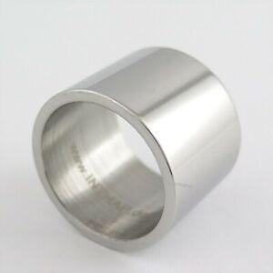 Edelstahlring - 2 cm extra breit - Ring aus Edelstahl Herrenring Bandring groß