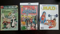 Comic Book Lot of 3 Bugs Bunny Loony Tunes MAD Magazine Rocky Jughead Archie