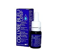 Collyre Bleu Laiter Clear Blue Eye Drops 10ml Bottle Original