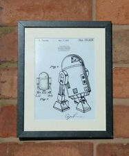 USA Patent Drawing STAR WARS FILM R2 D2 ARTOO DEETOO DROID  MOUNTED PRINT 1979