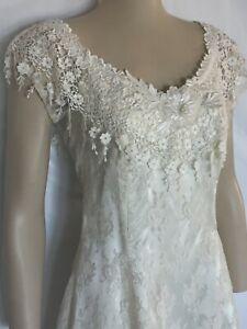Ivory Lace, Handkerchief Hem, Western, Beach, Casual Wedding Dress, 6,8,10