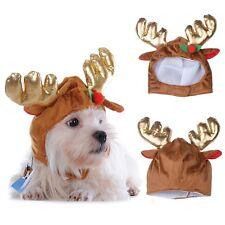 Sombrero De Perro Fancy Dress Pequeño Taza De Té Chihuahua ropa Navidad Reno Ciervo