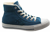 Converse Star Player Mid Unisex Trainers Blue Suede Mens Womens Lace 139699C D73