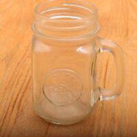 Vintage Anchor Hocking Golden Harvest Mason Jar Mug With Handle Stein