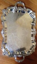 Towle Silver-Plated Ornate Footed Serving Platter Waiter's Tray Large