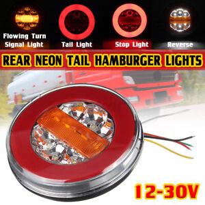 Dynamic Hamburger 43 LED Tail Light Rear Brake Stop Indicator Trailer Truck