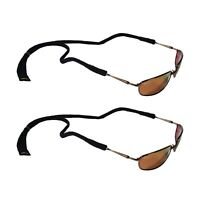 Croakies Micro Suiter Eyewear Retainer Black For Small Glasses Frames (2-Pack)