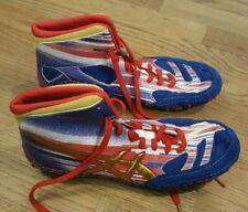 Asics Aggressor 2 Le Lightning Wrestling Shoes Red/White/Blue Mens 10.5 J508Y