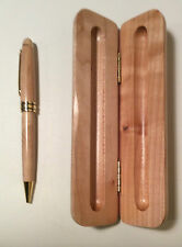 Handcrafted Wooden Pen w Fitted Wood Box Handmade Pine Writing Office Stationery