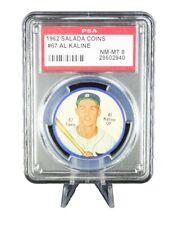 1962 Salada Coins AL KALINE #67 PSA 8 (NM - MT) Detroit Tigers
