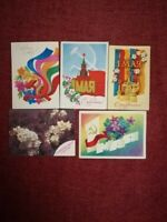 Lot of postcards USSR Revolution Russia Lenin Propaganda First may