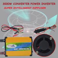 3000W Solaire Voiture Power Onduleur 12V à 220V Convertisseur électrique 2 USB