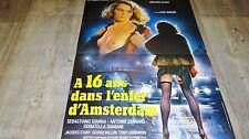 A 16 ANS DANS L'ENFER D'AMSTERDAM ! affiche cinema