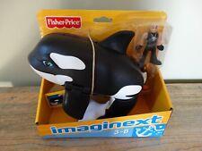 Imaginext Orca Killer Whale ouverture bouche Figure Fisher Price Penguin Entièrement neuf dans sa boîte