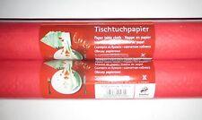 Rotolo 2 1mx10m Carta Tovaglia Panno Tabella Rosso Compleanno Decorazione