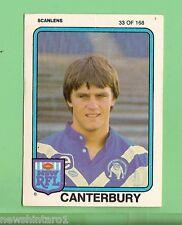 1981  CANTERBURY BULLDOGS  SCANLENS RUGBY LEAGUE  CARD  #33  CHRIS MORTIMER
