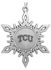 TCU Horned Frogs ENGRAVED PEWTER CHRISTMAS ORNAMENT Texas Christian University