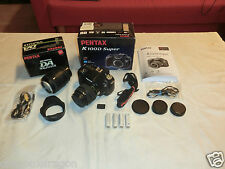 Pentax k100d 6.1 mp DSLR cámara, embalaje original, incl. objetivamente 18-55mm & Sigma 70-210mm