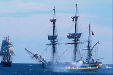 669059 HMS Rose Firing Salvo With HMS Bounty In Nova Scotia Canada A4 Photo Prin