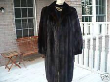 Mint full length Black brown Mink Fur coat jacket